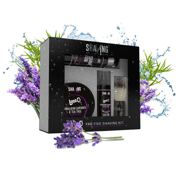 Lass-O Fab Five Shaving Kit - Himalayan Lavender & Tea Tree