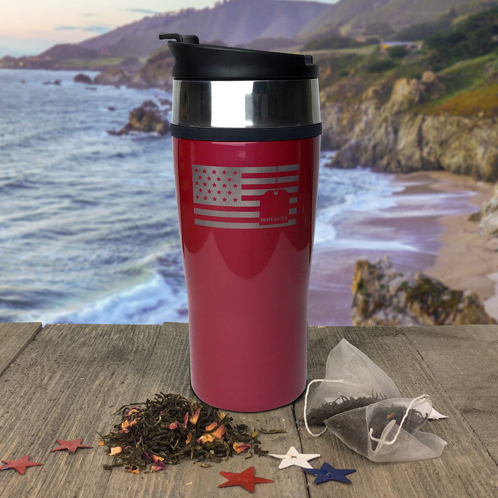 Big Flag Travel Tumbler Red