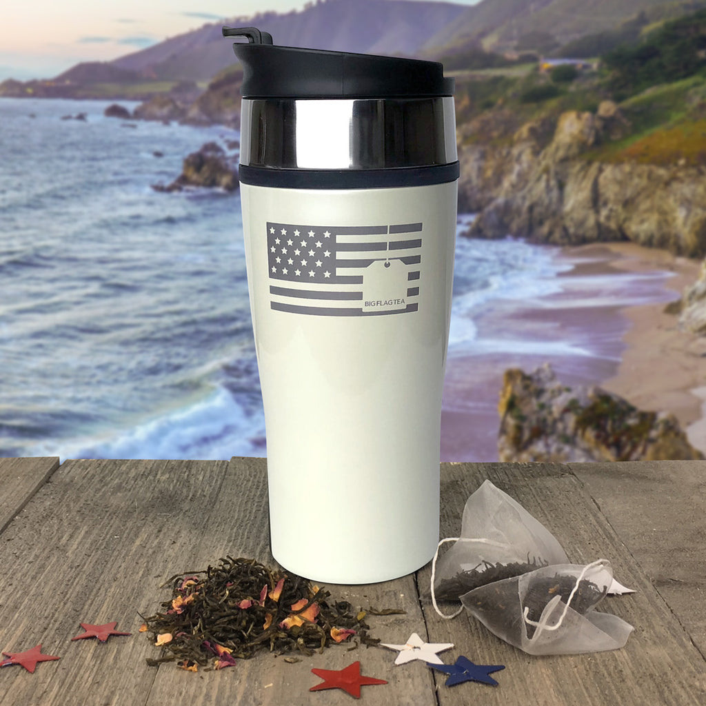 Big Flag Travel Tumbler White