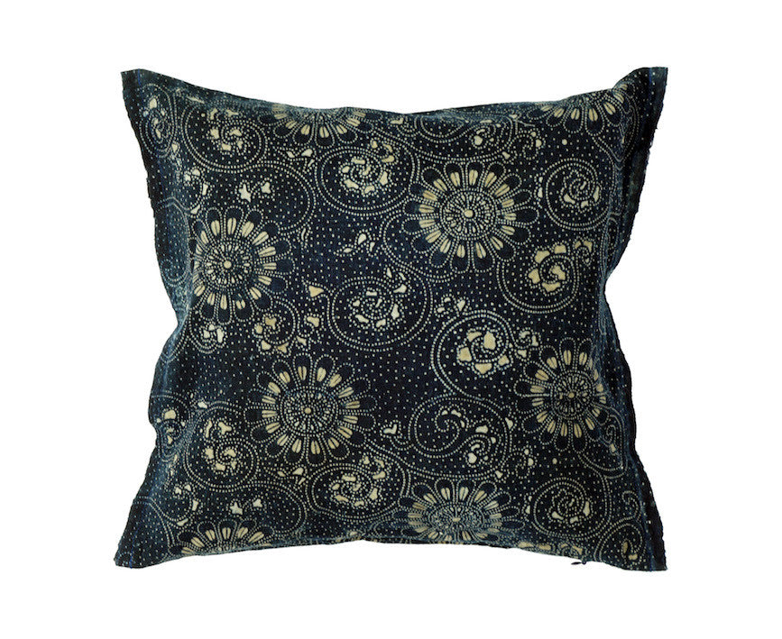 Katazome Fabric Pillow 12 x 12""