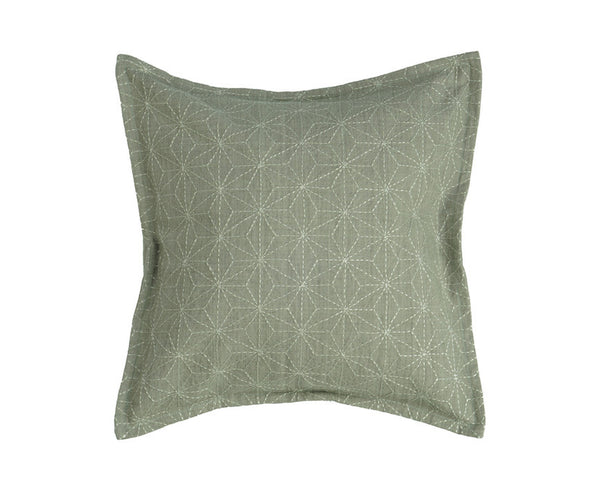 Sashiko Pillow - ASANOHA - (Silver Grey)