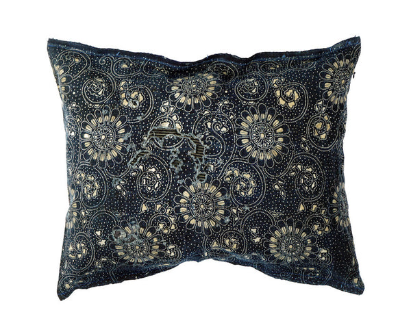 Mended Katazome Fabric Pillow 16 x 12""