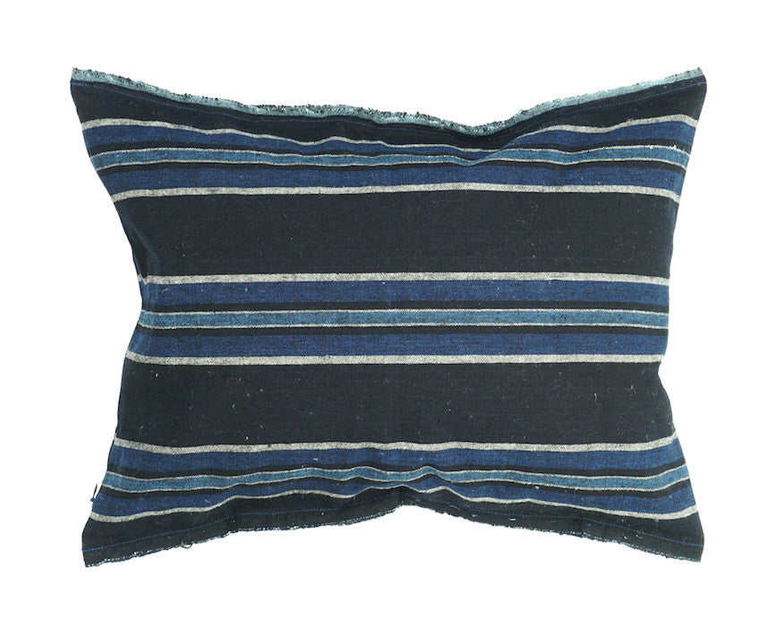 Indigo Stripe Pillow 16 x 12""