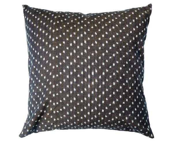 Bingo Kasuri Pillow - Snow Flakes - 18 x 18""