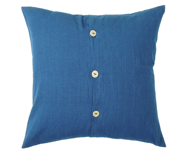 "Ceramic Button Pillows 18 x 18"" (Indigo)"