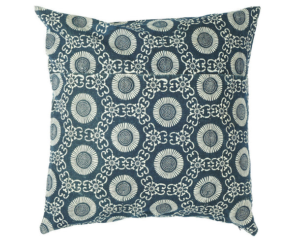 Katazome Chrysanthemum Pillow 18 x 18""