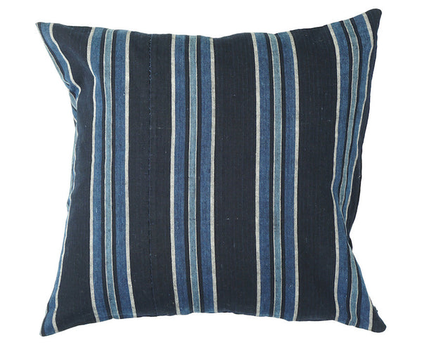 Indigo Stripe Pillow 18 x 18""