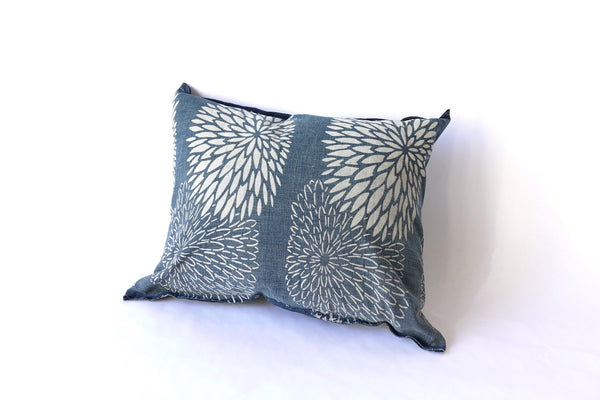"Chrysanthemum Katazome Pillow (16 x 12"")"