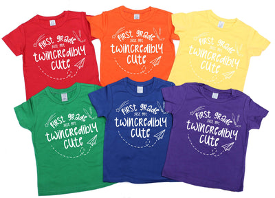 -First Grade Just Got Twincredibly Cute - O Twins Clothing Co