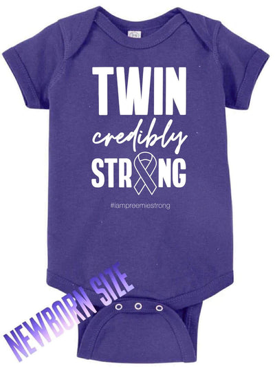 Twincredibly Strong- ONESIE - O Twins Clothing Co