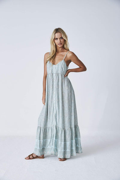 Kashmir Maxi Dress- Cloud