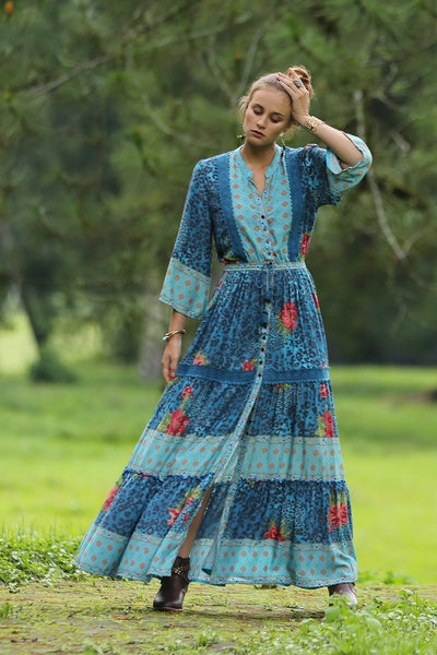 Layla Gown in Blue Moon