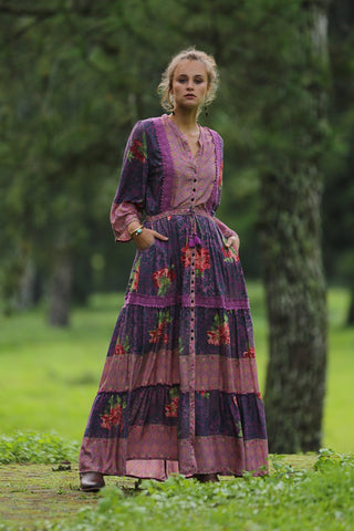 Layla Gown in Purple Potion