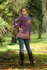 Sahara Boho Blouse Purple Potion