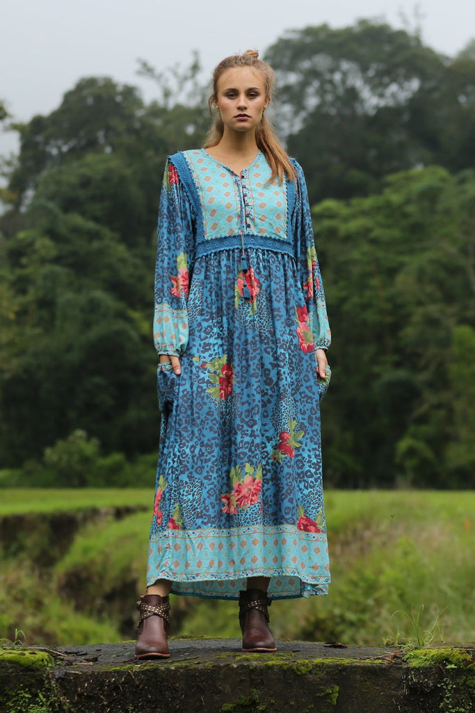 Sahara Midi Dress Blue Moon