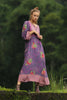 Sahara Midi Dress Purple Potion