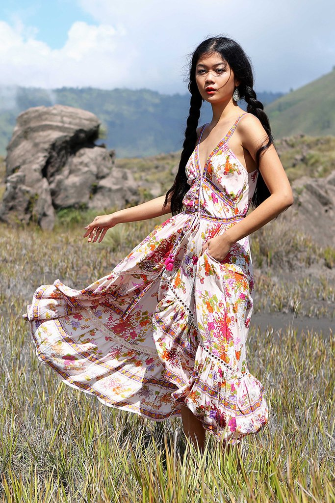caa782ceee Tulle and Batiste Delila Maxi Dress in Primrose Pink – Earth's Elements