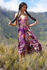 Delila Maxi Dress in Plum