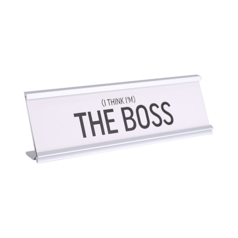 I think I'm The Boss Plaque Father's Day Gift Idea Klosh Gift Shop Singapore