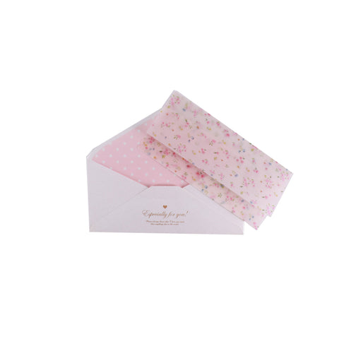 Gift Letter and Envelope in Pastel Pink Floral Klosh Gift Shop Singapore