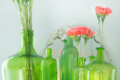 Blogpost on Living Green While Staying Home Recycle Glass Bottles Klosh Gifts Online Singapore