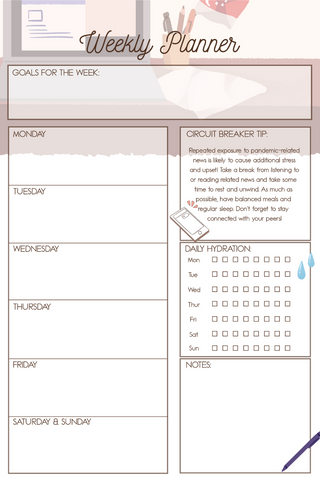 Circuit Breaker Weekly Planner 1