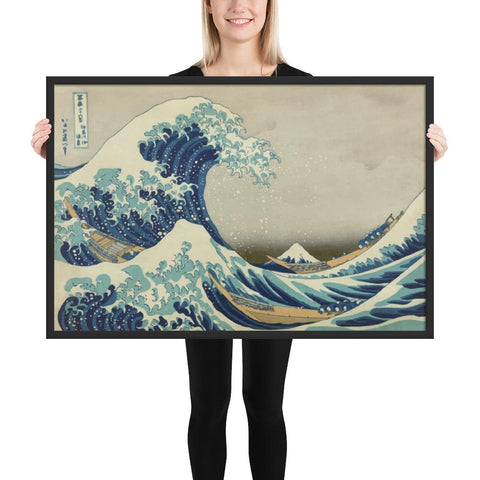 FRAMED POSTER THE GREAT WAVE OFF KANAGAWA Klosh Gift Home Decor Shop Singapore