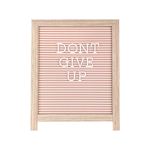 Easel Letterboard in Pastel Pink - Klosh Home Decor Singapore
