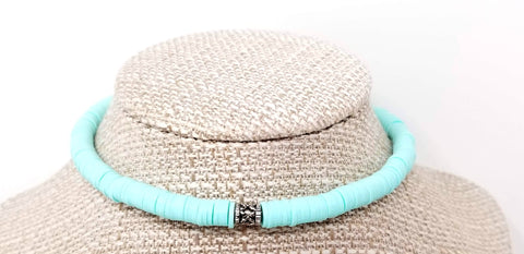 Pastel Mint Green Bohemian Women's Choker Necklace - ChristalDreamZ