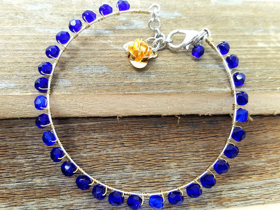Blue Skinny Bangle Bracelets - ChristalDreamZ