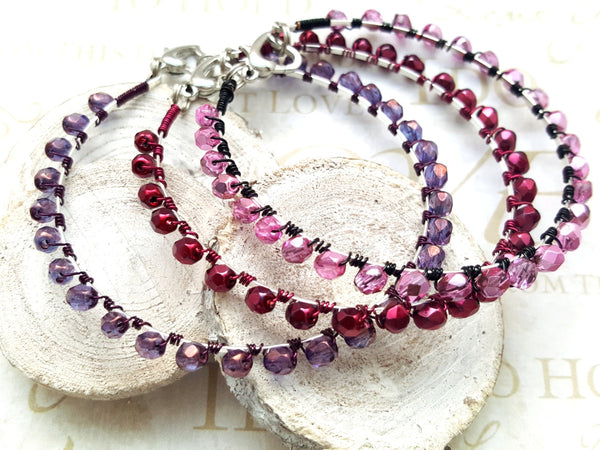 Pink Wire Wrap Bracelet - ChristalDreamZ