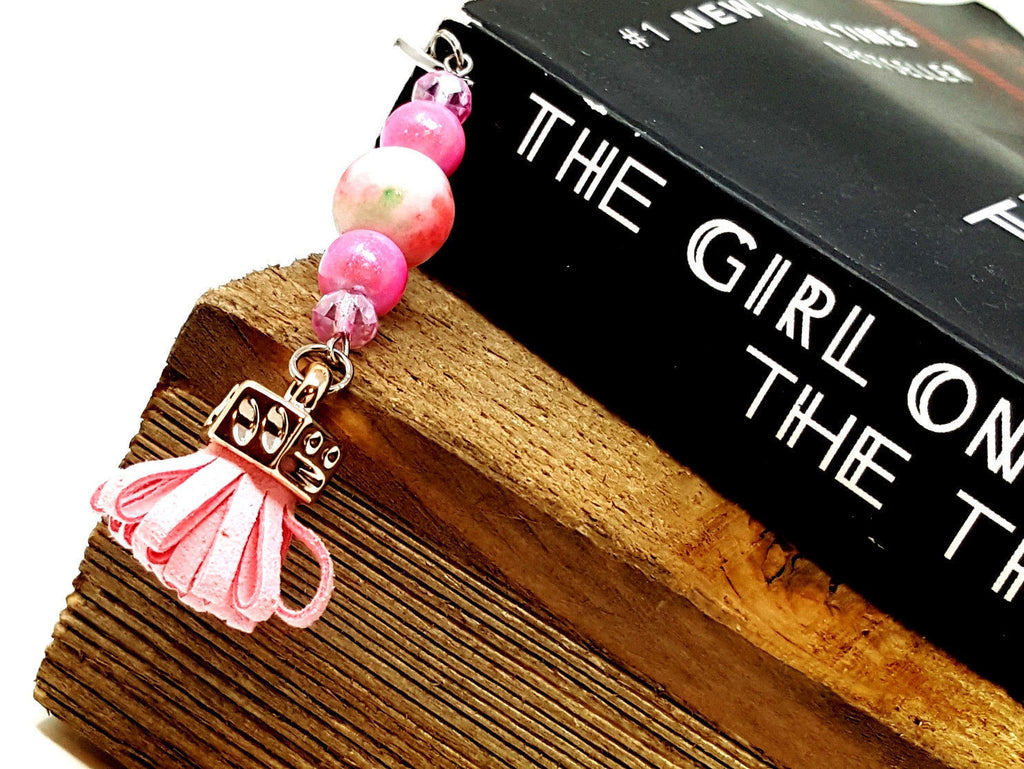 Pink Beaded Bookmark - ChristalDreamZ