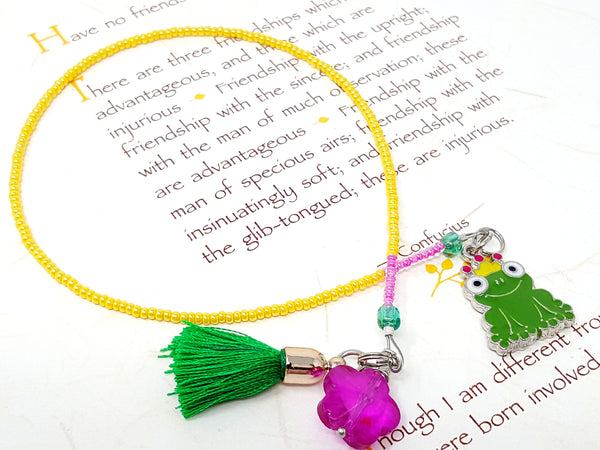 Frog Beaded Bookmark - ChristalDreamZ