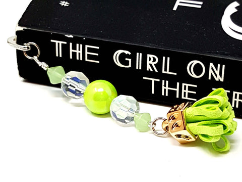 Lime Green Beaded Bookmark
