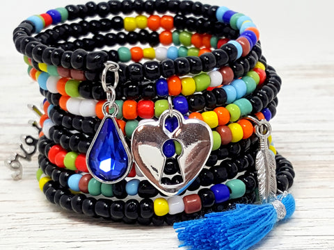 Black Rainbow Mix Bracelet - ChristalDreamZ