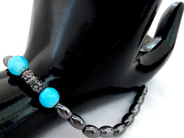 Unisex  Bracelet - Aqua Blue - ChristalDreamZ
