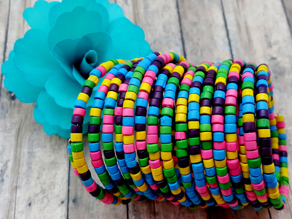 Rainbow Wrap Cuff Bracelet - ChristalDreamZ