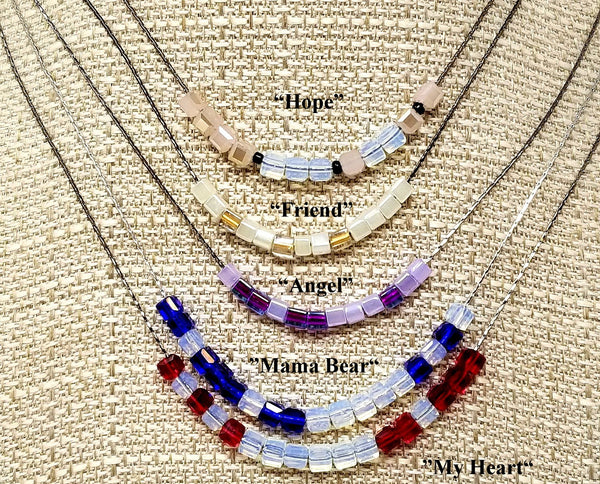 Custom Personalized Morse Code Beaded Mothers Day Necklace - ChristalDreamZ