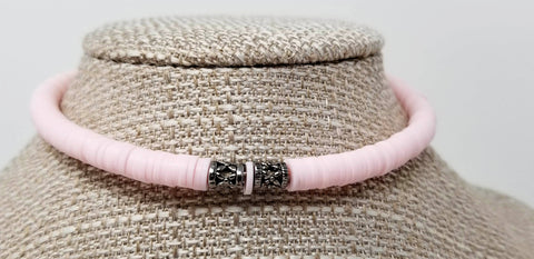 Pastel Pink Beaded Choker - ChristalDreamZ