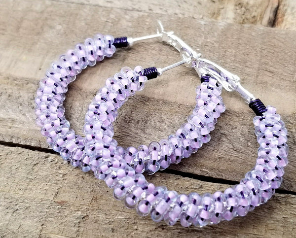 Purple Pastel Hoops Earrings - ChristalDreamZ