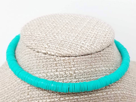 Turquoise Beaded Retro Choker Necklace - ChristalDreamZ