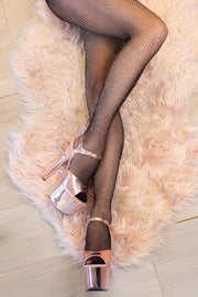Fishnet AB Shine Diamonte Stockings-Black