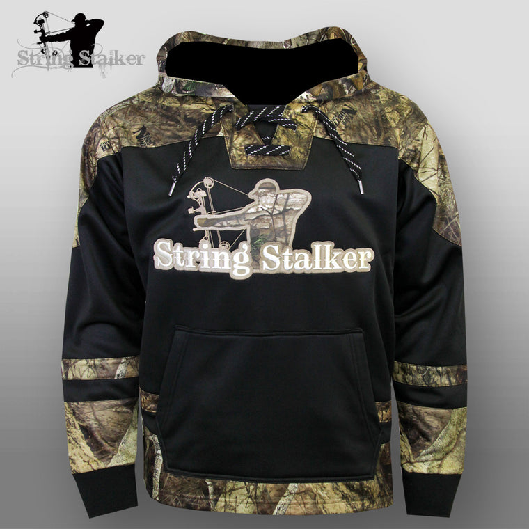 String Stalker Bow Hunting Camo Hockey Hoodie
