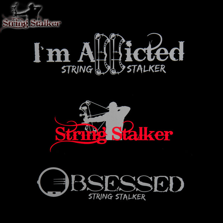 String Stalker Bow Hunting Decal 3 Pack #2