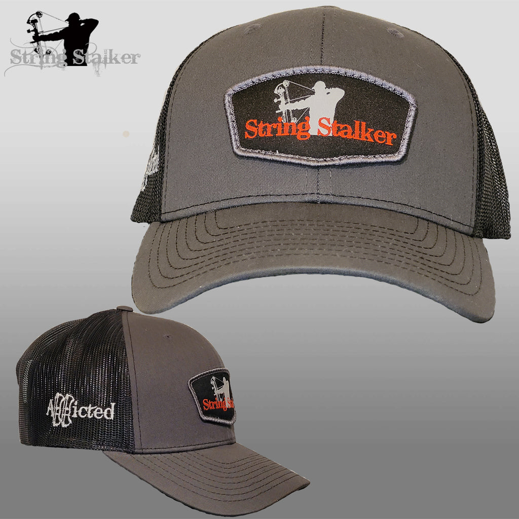 NEW String Stalker Logo Patch Trucker Hat Grey/Black