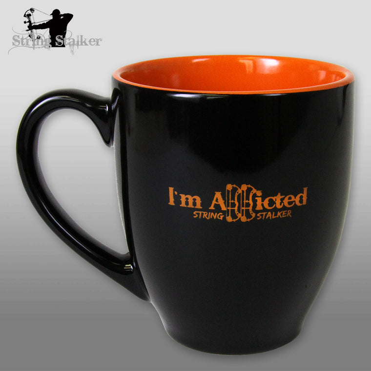 String Stalker Bow Hunting Addicted Coffee Cup
