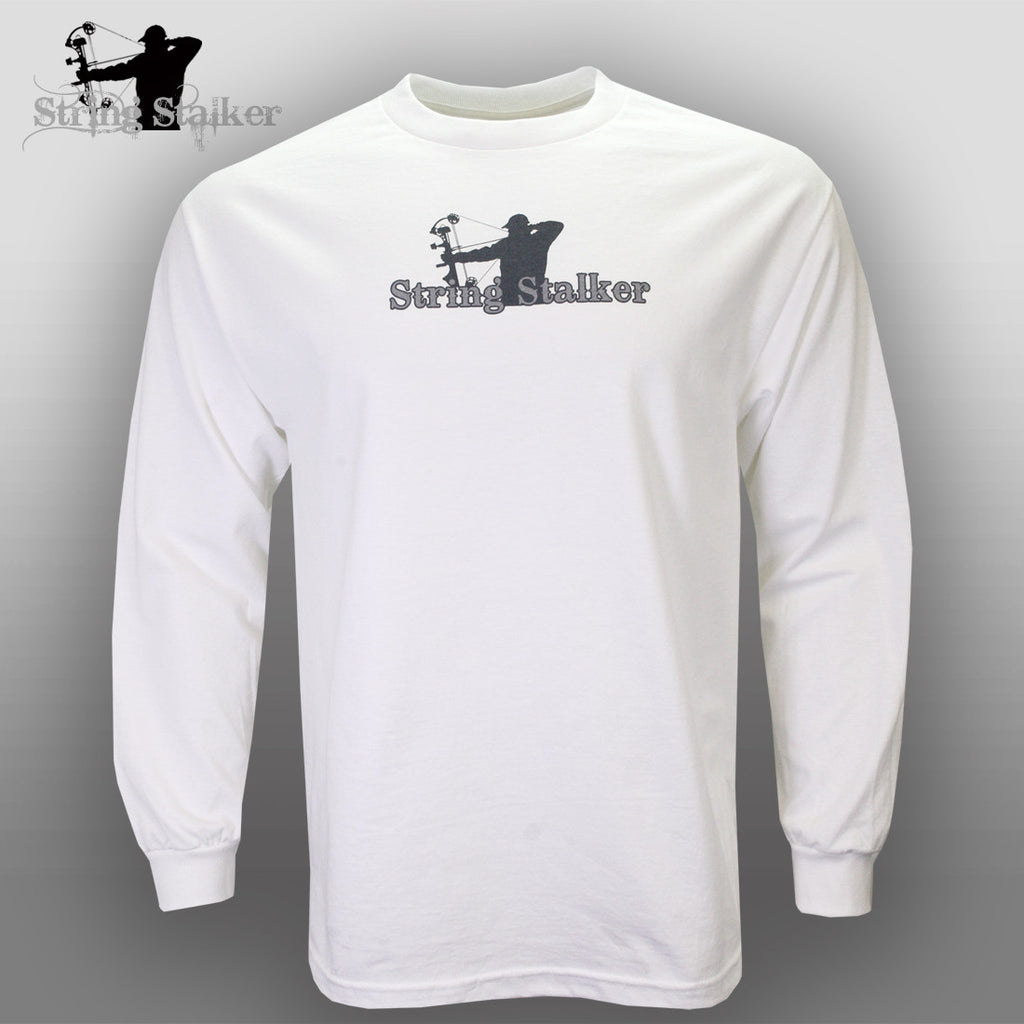 String Stalker Pledge of Allegiance Long Sleeve T Shirt White - String Stalker
