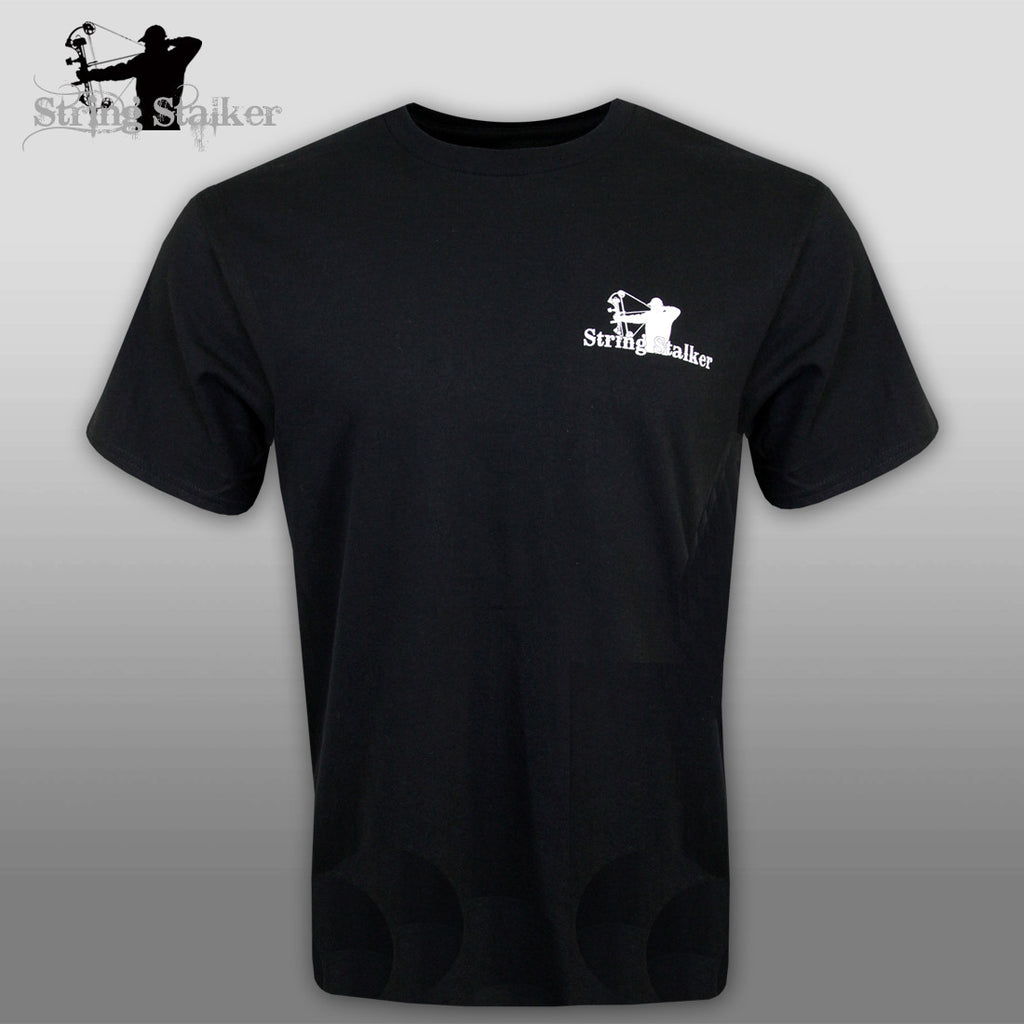 String Stalker I Love Bow Hunting TShirt - Black