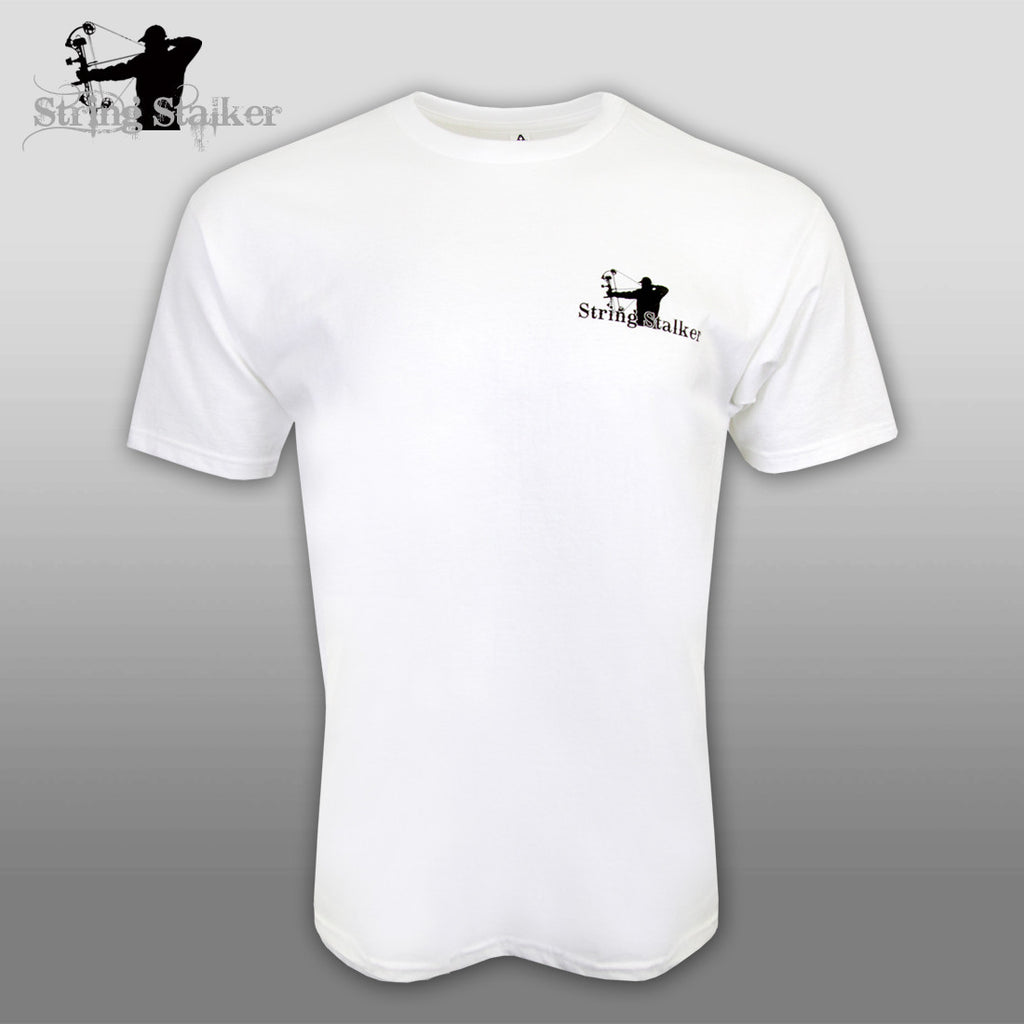 String Stalker I Love Bow Hunting TShirt - White