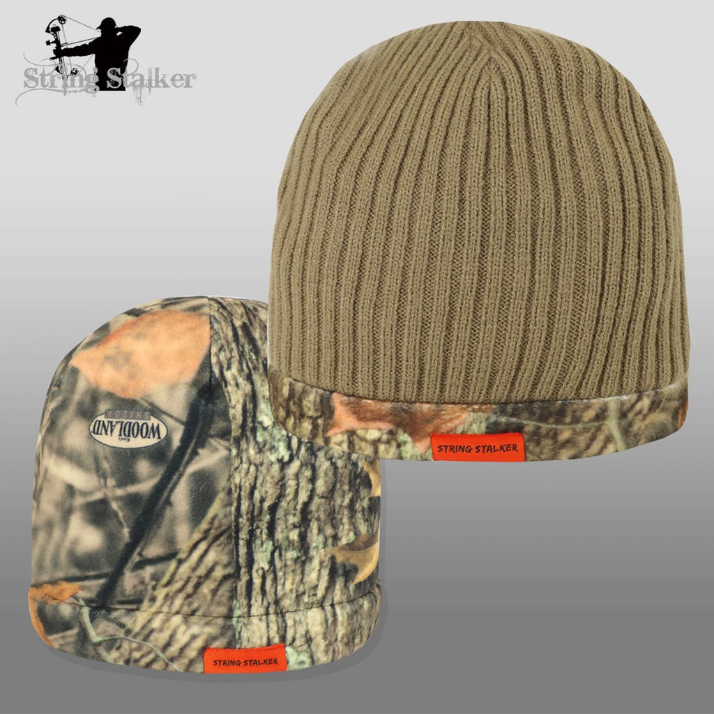 String Stalker Fleece Reversible Beanie Driftwood/Woodland Shadow Beanie